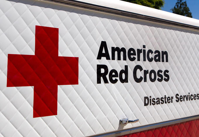 The American Red Cross truck.